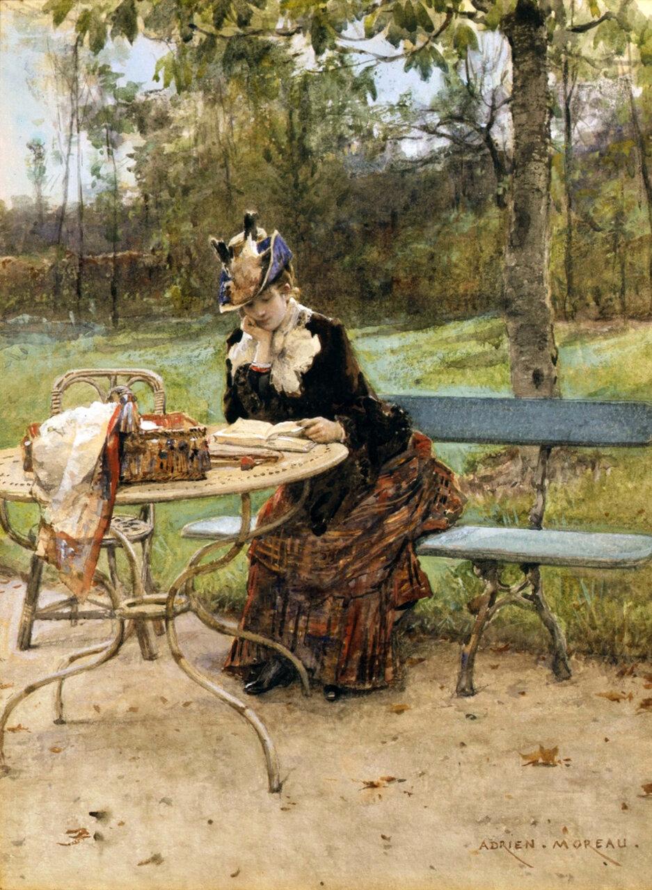 Adrian Moreau - Il parco - 1843 - 1906