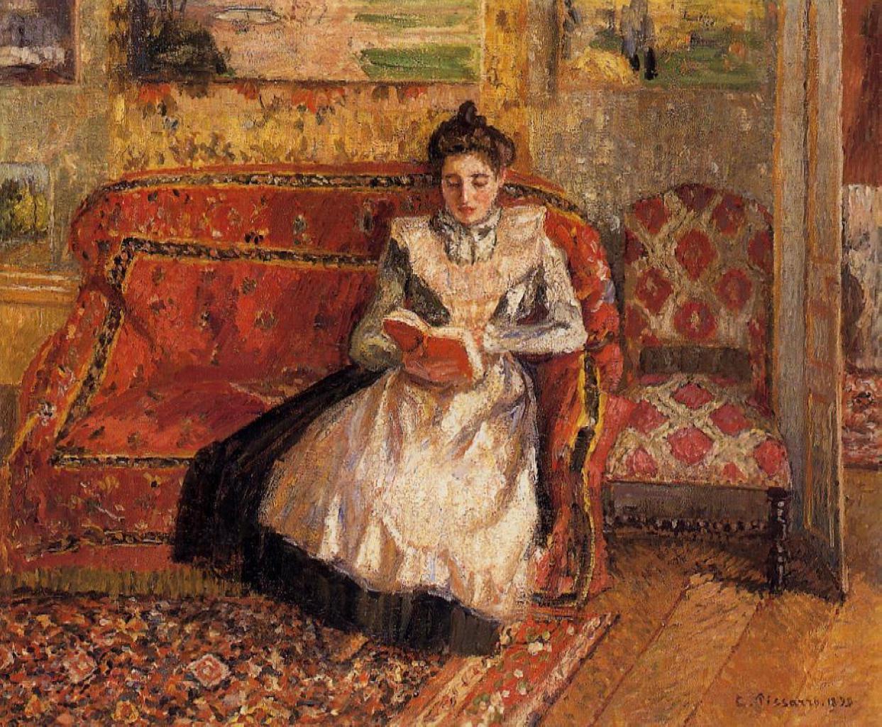Camille Pissarro - Jean Pissarro reading