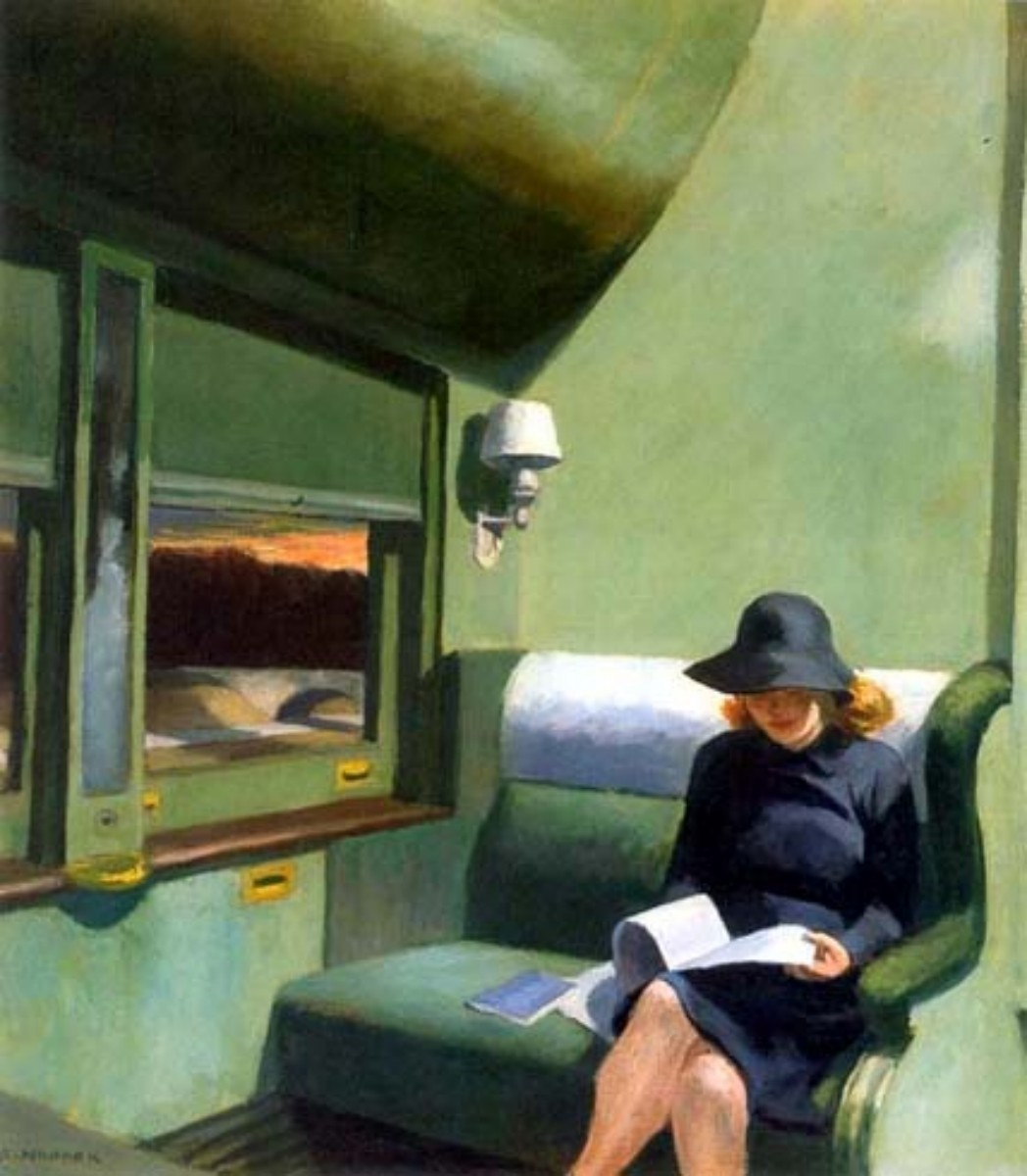 Edward Hopper - Lettrice in treno
