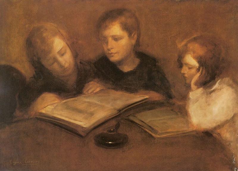 Eugene Carrere - Girls reading