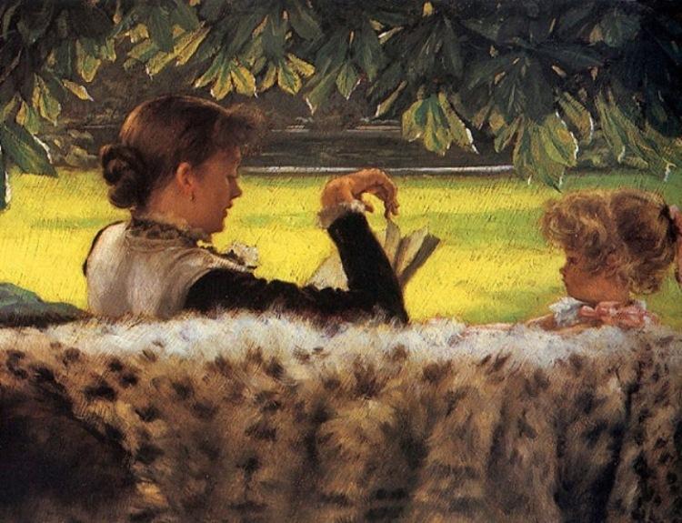 Jacques-Joseph Tissot - Reading a story