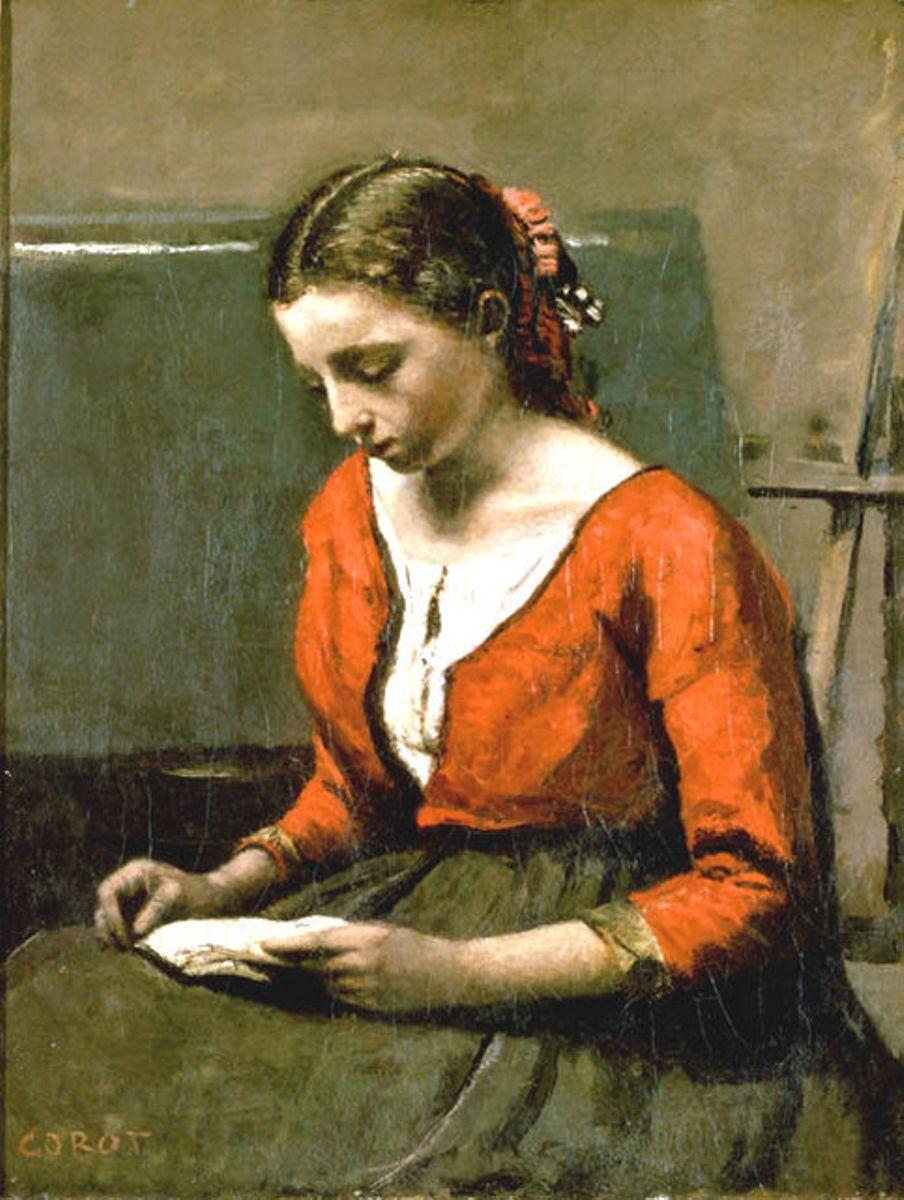 Jean-Baptiste Camille Corot - Donna che legge