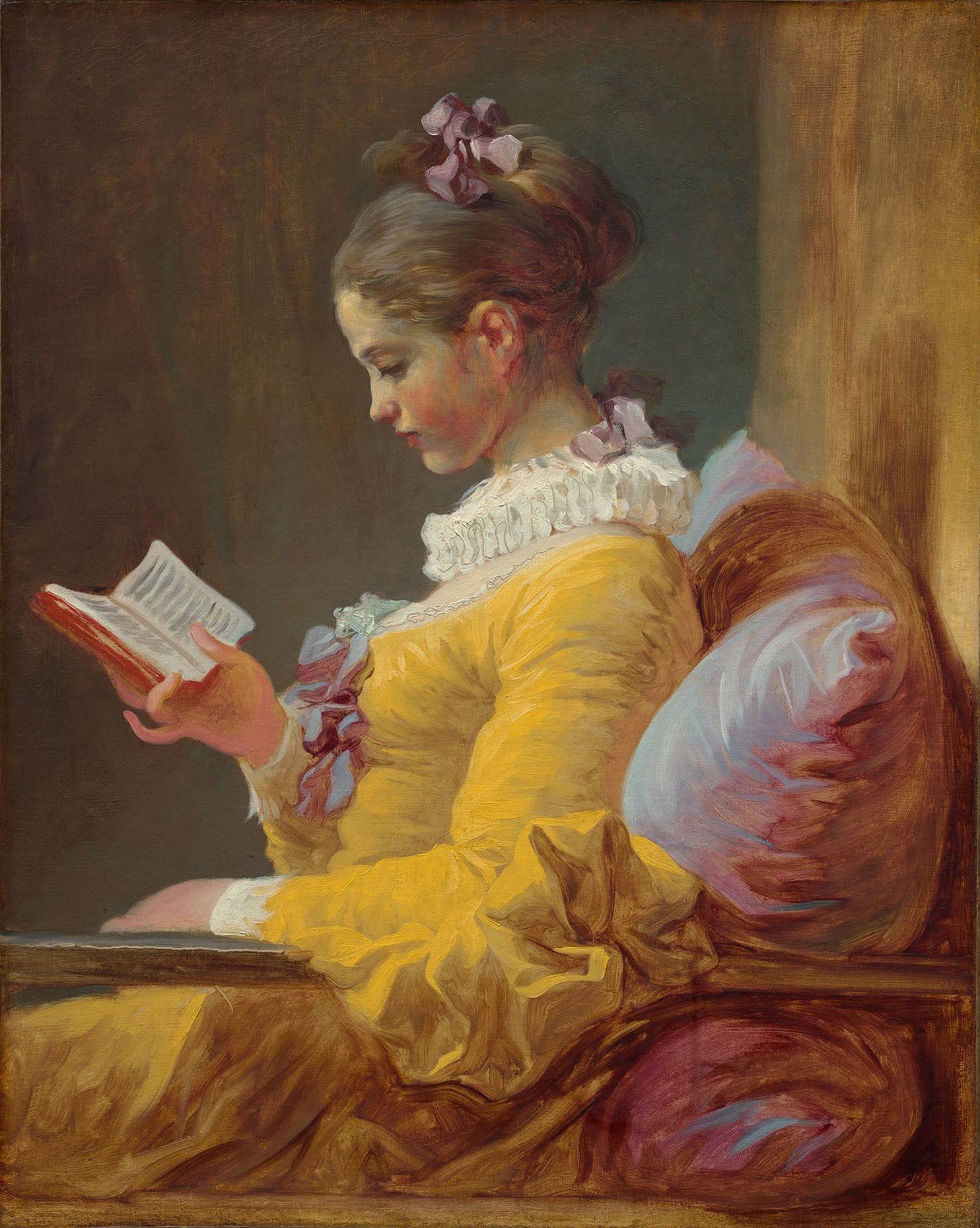 Jean Honoré Fragonard - Giovane donna che legge
