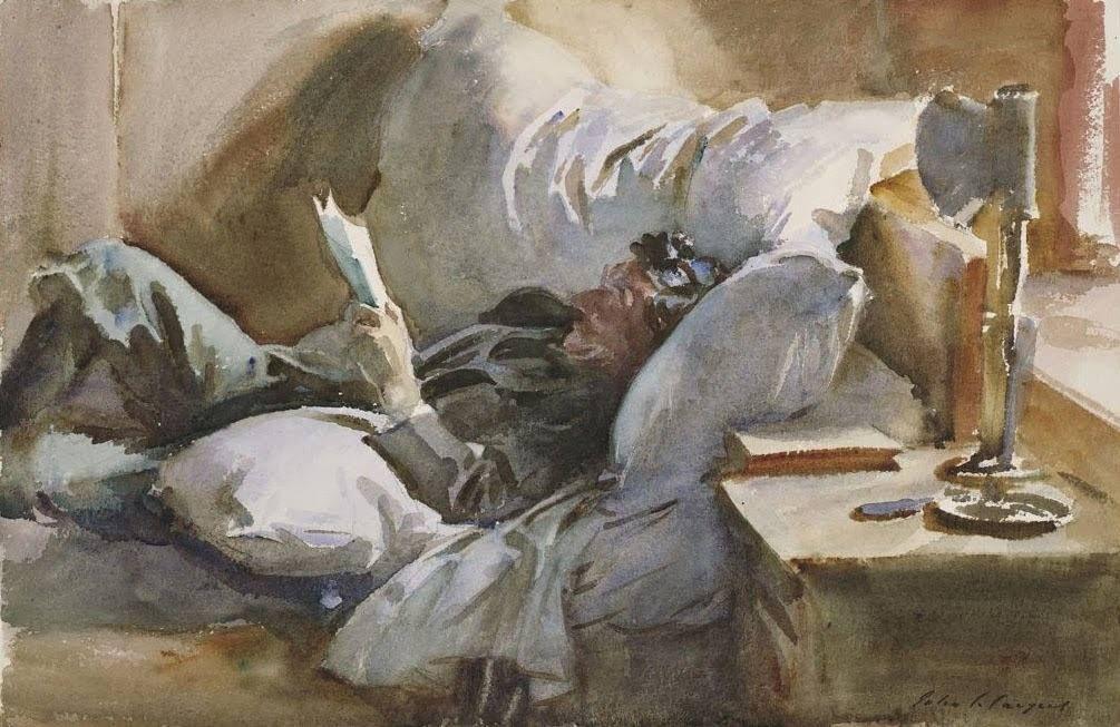 John Singer Sargent - Man Reading