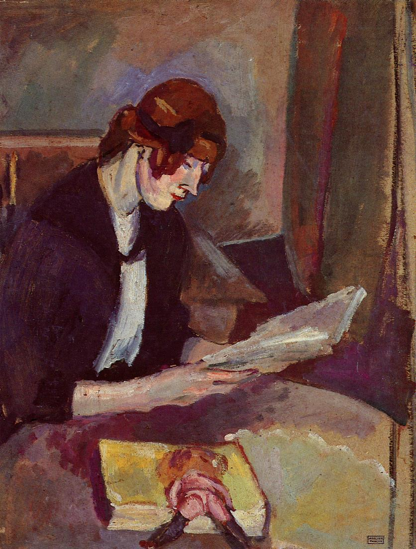 Jules Pascin - Hermine David reading