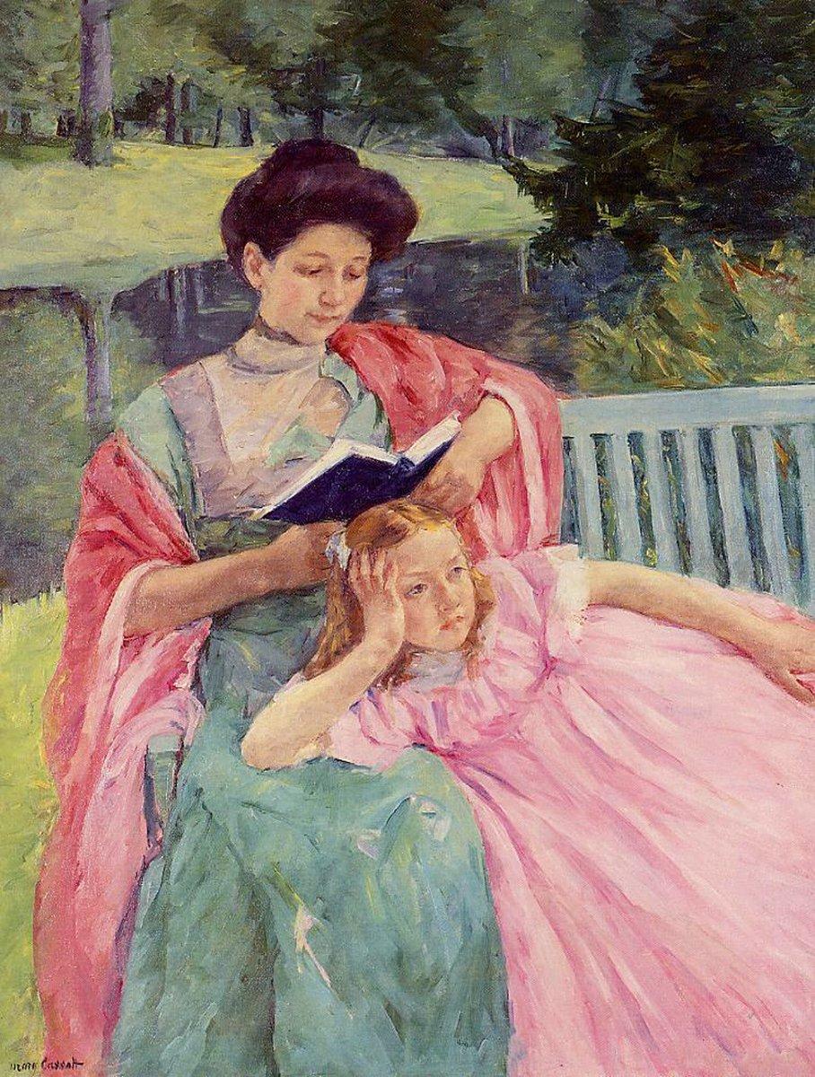 Mary Cassatt - Augusta che legge a sua figlia