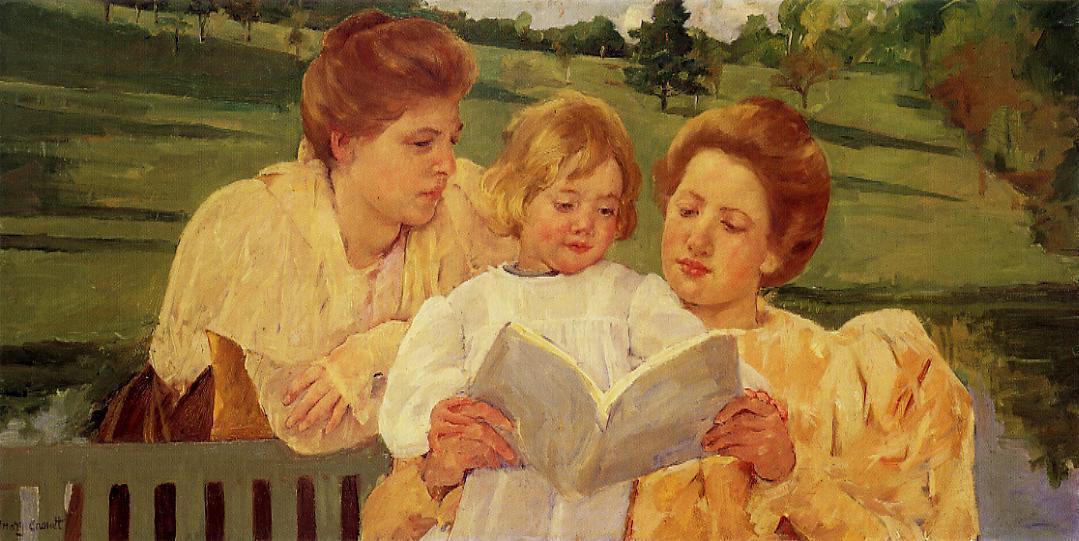Mary Cassatt - The garden reading
