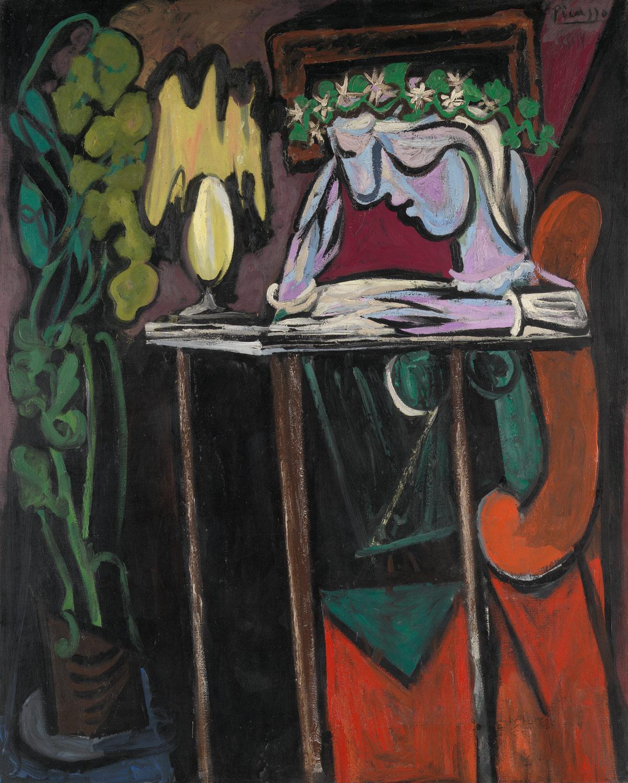Pablo Picasso - Donna che legge al tavolo