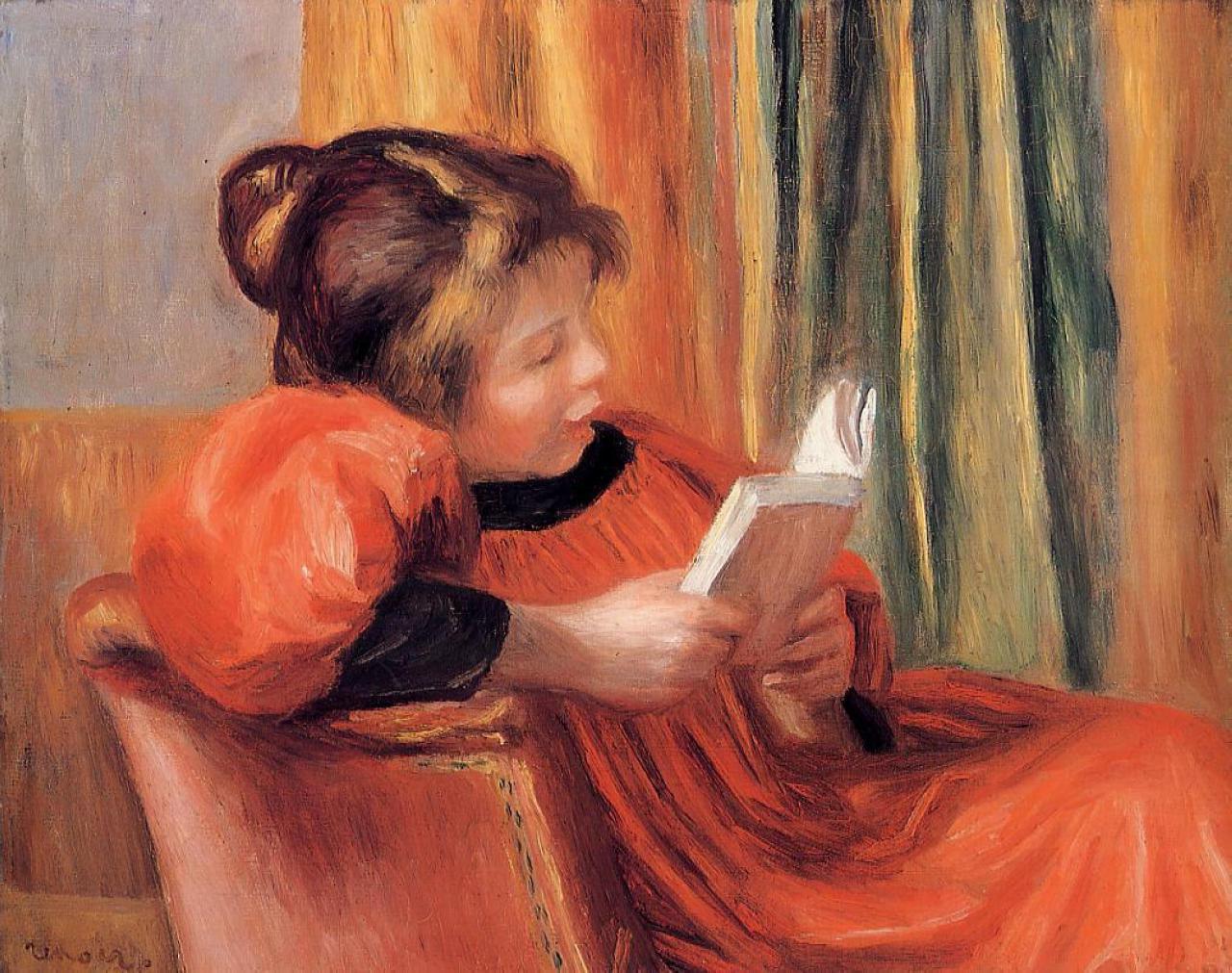 Pierre Auguste Renoir - Ragazza che legge