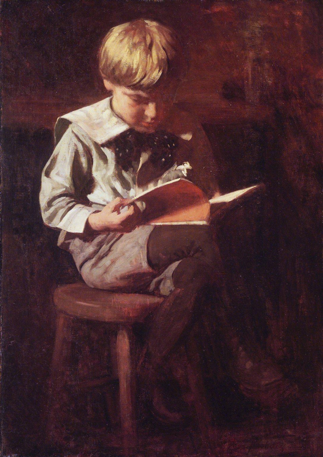 Thomas Pollock Anshutz - Ragazzo che legge (Ned Anshutz)